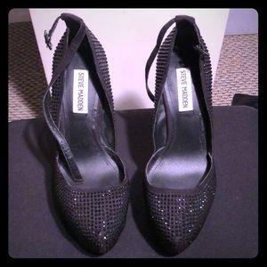 Black beaded Steven Madden Stilettos size 7.5